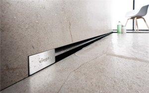 SET - sprchový žlábek Advantix Vario Wand základní těleso ke zdi +lamela mat