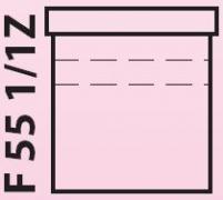 Florida - spodní skříňka pod umyvadlo 55 cm, závěsná s 1+1 zásuvkou