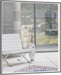 Centino - zrcadlo 80x70 s LED osvětlením, hliníkový rám stříbrný