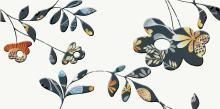 Faro orange inserto flower - obkládačka inzerto 29,7x60
