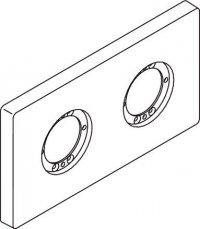 Archimodule - 2 otvorová rozeta 10x18,3 cm