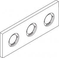 Archimodule - 3 otvorová rozeta 10x26,6 cm