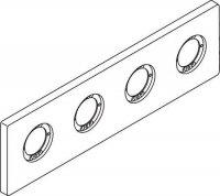 Archimodule - 4 otvorová rozeta 10x34,9 cm