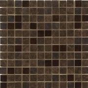 Mosaico 2,5x2,5 Lustro Brown - obkládačka mozaika 29,5x29,5 hnědá
