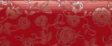Fascia Floreale Lustro Chili - obkládačka inzerto 25x60 červená