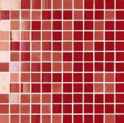 Mosaico Lustro Chili - obkládačka mozaika 30x30 červená