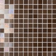 Mosaico Lustro Coffee Brown - obkládačka mozaika 30x30 hnědá