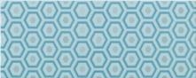 Decoro Geometrico Azzurro - obkládačka inzerto 20x50 modrá