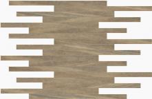Muretto Lapp./Rett. Navigli - dlaždice mozaika 29,7x29,7 hnědá lappovaná