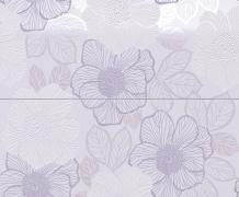 Composizione 2 pz. Bloom Lilac - obkládačka inzerto set 50x60 fialová