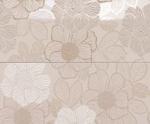 Composizione 2 pz. Bloom Nut Brown - obkládačka inzerto set 50x60 hnědá