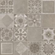 Decoro Patchwork Mix Beton - dlaždice dekor 60x60 šedá matná