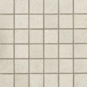 Tribeca Mosaico 5x5 Titanio Lappato - dlaždice mozaika 30x30 bílá
