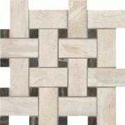 Mosaico Intreccio Crystal - dlaždice mozaika 30x30 krémová matná