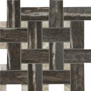 Mosaico Intreccio Night - dlaždice mozaika 30x30 černá matná