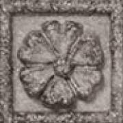 Inserto Floreale Gray - dlaždice dekor 5x5 šedá