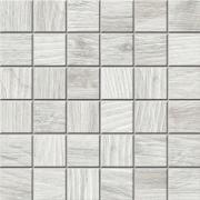 Mosaico 5x5 Rice Lapp. Rett. - dlaždice mozaika 30x30 bílá