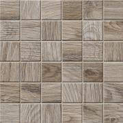 Mosaico 5x5 Cinnamon Lapp. Rett. - dlaždice mozaika 30x30 hnědá