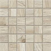 Mosaico 5x5 Bamboo Lapp. Rett. - dlaždice mozaika 30x30 krémová