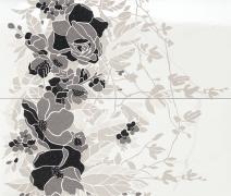 Composizione Floreale Statuario - obkládačka inzerto set 50x59,1 bílá