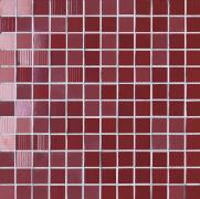 Mosaico Lustro Bordeaux - obkládačka mozaika 30x30 vínová