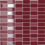 Mosaico 3D Bordeaux - obkládačka mozaika 30x30 vínová