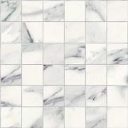 Imperial Mosaico 5x5 Silk Calacatta Bianco - dlaždice mozaika 30x30 bílá