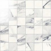 Imperial Mosaico 5x5 Lapp. Calacatta Bianco - dlaždice mozaika 30x30 bílá