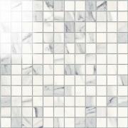Imperial Mosaico 2,5x2,5 Lapp. Calacatta Bianco - dlaždice mozaika 30x30 bílá