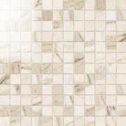 Imperial Mosaico 2,5x2,5 Lapp. Calacatta Beige - dlaždice mozaika 30x30 béžová