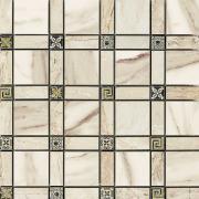 Imperial Cassetone Lapp. Calacatta Beige/Cappuccino - dlaždice mozaika 30x30 béžová