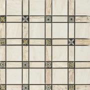 Imperial Cassetone Lapp. Crema/Cappuccino - dlaždice mozaika 30x30 béžová
