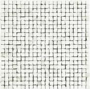 Imperial Mosaico Spacco Lapp. Statuario - dlaždice mozaika 30x30 bílá