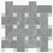 Intreccio Silk Grigio Imperiale /London Grey - dlaždice mozaika 30x30 šedá