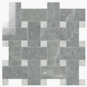 Intreccio Lapp. Grigio Imperiale /London Grey - dlaždice mozaika 30x30 šedá