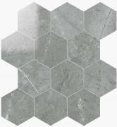 Esagona Lapp. Grigio Imperiale - dlaždice mozaika 29,1x25,2 šedá