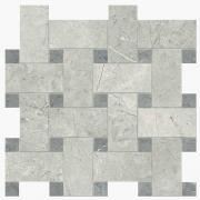 Imperial Intreccio Silk London Grey/Grigio Imperiale - dlaždice mozaika 30x30 šedá