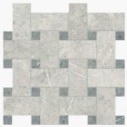 Imperial Intreccio Lapp. London Grey/Grigio Imperiale - dlaždice mozaika 30x30 šedá