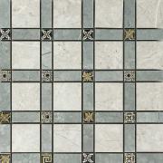 Imperial Cassetone Lapp. London Grey/Grigio Imperiale - dlaždice mozaika 30x30 šedá