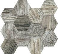 Mosaico Esagona Silver - dlaždice mozaika 31,5x36,5 šedá