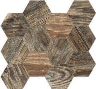 Time Design Mosaico Esagona  Stonewash - dlaždice mozaika 31,5x36,5 hnědá