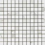 Mosaico 2,5x2,5 Calacatta Bianco - obkládačka mozaika 30x30 bílá