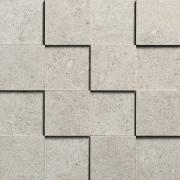 Mosaico 3D 7,5x7,5 Grigio Chiaro - obkládačka mozaika 30x30 šedá