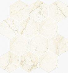 Esagona Levigato Marfil - dlaždice mozaika 25x29 béžová lesklá