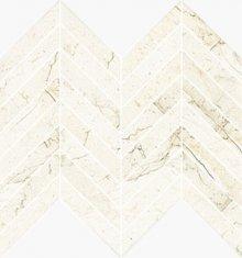 Chevron Levigato Marfil - dlaždice mozaika 25,5x29,8 béžová lesklá