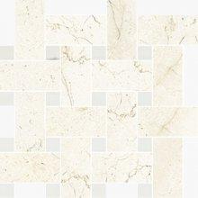 Intrecio Levigato Marfil/White Dolomite - dlaždice mozaika 30x30 béžová lesklá