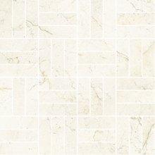 Cross Satin/Lev. Marfil - dlaždice mozaika 30x30 béžová lesklá