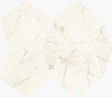 Pentagono Lev./Sat. Marfil - dlaždice mozaika 34,5x26 béžová lesklá