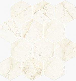 Imperial Esagona Satin Marfil - dlaždice mozaika 25x29 béžová