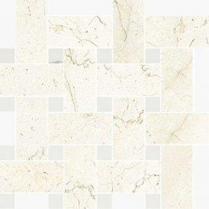 Imperial Intrecio Satin Marfil/White Dolomite - dlaždice mozaika 30x30 béžová